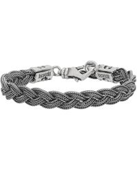 Emanuele Bicocchi - Silver 6-thread Braided Bracelet - Lyst