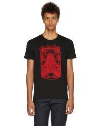 Alexander McQueen - Black Moth Skull T-shirt - Lyst