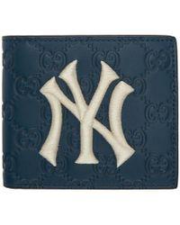 Gucci - Ny Yankees Edition ネイビー GG ウォレット - Lyst