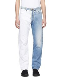Aries - Blue And White Pascal Lilly Jeans - Lyst