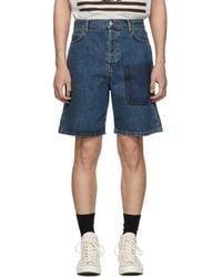 JW Anderson - Blue Denim Shaded Pocket Shorts - Lyst