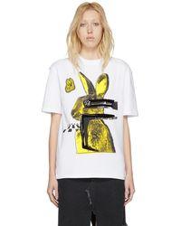 McQ - White Bunny Boyfriend T-shirt - Lyst
