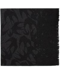 McQ Black And Grey Swallow Degrade Scarf
