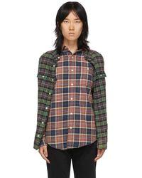 R13 Multicolour Double Shirt