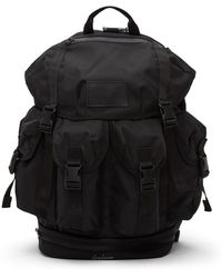 Yohji Yamamoto ブラック 4 ポケット バックパック