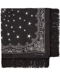Amiri ブラック ラージ バンダナ スカーフ