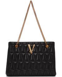 Versace ブラック スモール Quilted Virtus トート