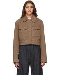 Lemaire Brown Short Denim Blouson Jacket