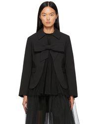 ShuShu/Tong Ssense Exclusive Black Bow Suit Jacket