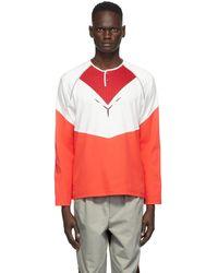 Kiko Kostadinov Red Kenneth Jersey Long Sleeve T-shirt