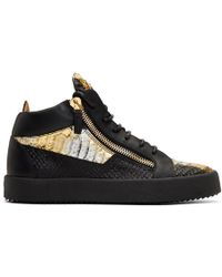 baa813eb06925 Giuseppe Zanotti Red Patent Croc May London High-top Sneakers in Red for  Men - Lyst