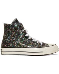 JW Anderson - Black Converse Edition Glitter Chuck 70 High Sneakers - Lyst