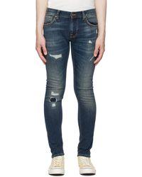 Nudie Jeans ネイビー Terry タイト ジーンズ - ブルー