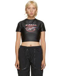 MISBHV Black Reebok Edition Cropped T-shirt