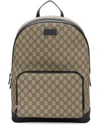 Gucci Men's GG Supreme Canvas Backpack - Natural