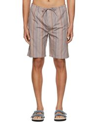 Paul Smith Short de pyjama ore en coton - Multicolore