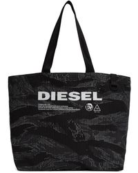 DIESEL Black And Gray D-thisbag Shopping Tote