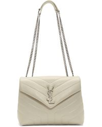 Saint Laurent - White Small Loulou Bag - Lyst