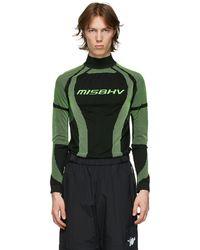 MISBHV ブラック & グリーン Active タートルネック