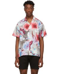 Saturdays NYC Chemise a manches courtes multicolore Canty - Rouge