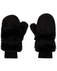 Givenchy Faux-fur Mittens - Black