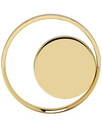 Lanvin - Gold Hoop And Disc Ring - Lyst