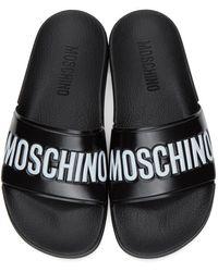 Moschino Black Logo Slides