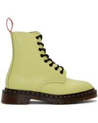 Undercover Dr. Martens Edition イエロー 1460 ブーツ - グリーン