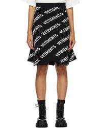 Vetements ブラック ニット ロゴ スウェットシャツ スカート