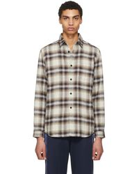 John Elliott - Tan Plaid Shirt - Lyst