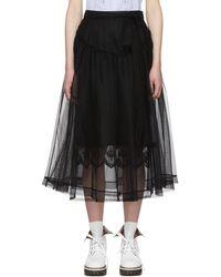 Simone Rocha | Black Bow Belt Tulle Skirt | Lyst