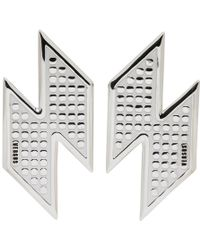 Versus - Silver Lightning Bolt Earrings - Lyst