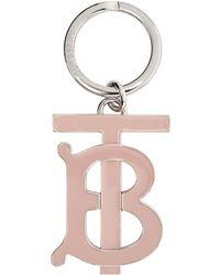 Burberry ピンク & シルバー Tb キーチェーン - マルチカラー
