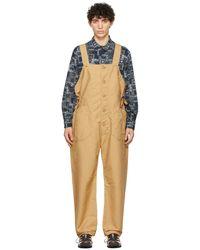 Engineered Garments カーキ Waders ジャンプスーツ - ナチュラル