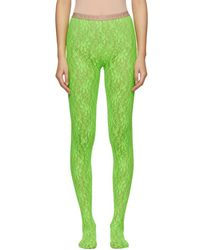 Gucci - Green Lace Tights - Lyst