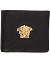 Versace Black Palazzo Coin Bifold Wallet