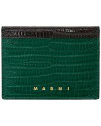 Marni グリーン スネーク Vanitosi カード ホルダー
