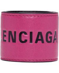 Balenciaga - Pink And Black Cycle Bracelet - Lyst