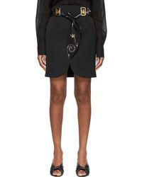 Lanvin ブラック ミニスカート