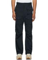 Engineered Garments ネイビー Fa カーゴ パンツ - ブルー