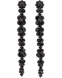 Simone Rocha Black Long Cluster Drip Earrings