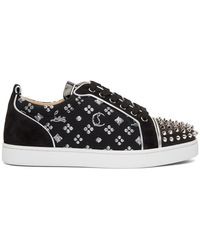 Christian Louboutin ブラック Louis Junior Spikes Orlato スニーカー
