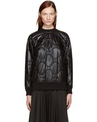 Hyke - Black Quilted Nylon Pullover - Lyst