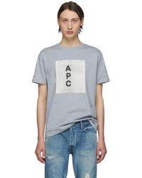 A.P.C. - グレー ロゴ T シャツ - Lyst