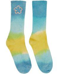 Collina Strada Chaussettes multicolores à perles teintes à la main