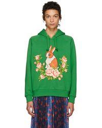 Gucci - Green Oversized Rabbit Hoodie - Lyst