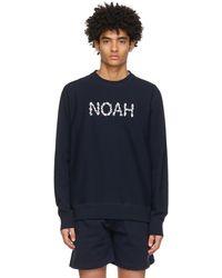 Noah ネイビー Lightweight Tulip スウェットシャツ - ブルー