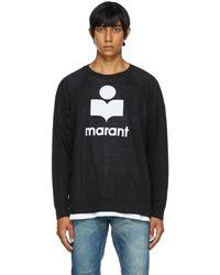 Isabel Marant T-shirt à manches longues Kieffer noir