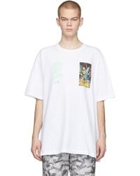 Off-White c/o Virgil Abloh - ホワイト Pascal Painting Over T シャツ - Lyst