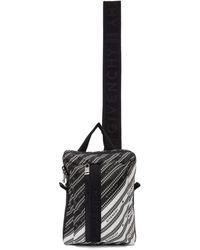 Givenchy - Sac a dos noir et blanc Light 3-Sling - Lyst